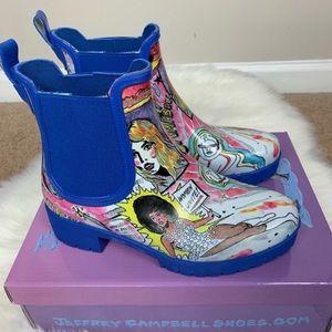 Jeffrey Campbell Rain Boots Size 7M